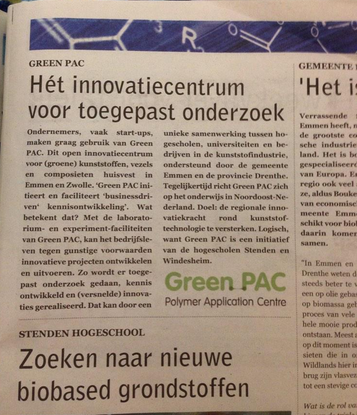 Green PAC in dagblad