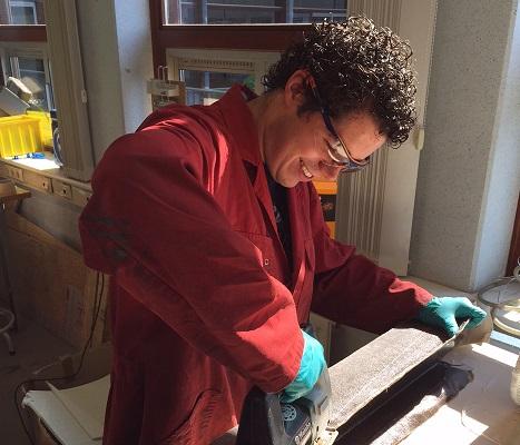 studenten bouwen brug biocomposiet